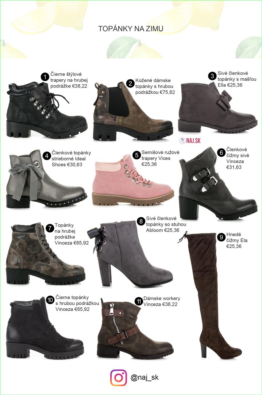 dcc0226753 Čierne topánky s hrubou podrážkou Vinceza