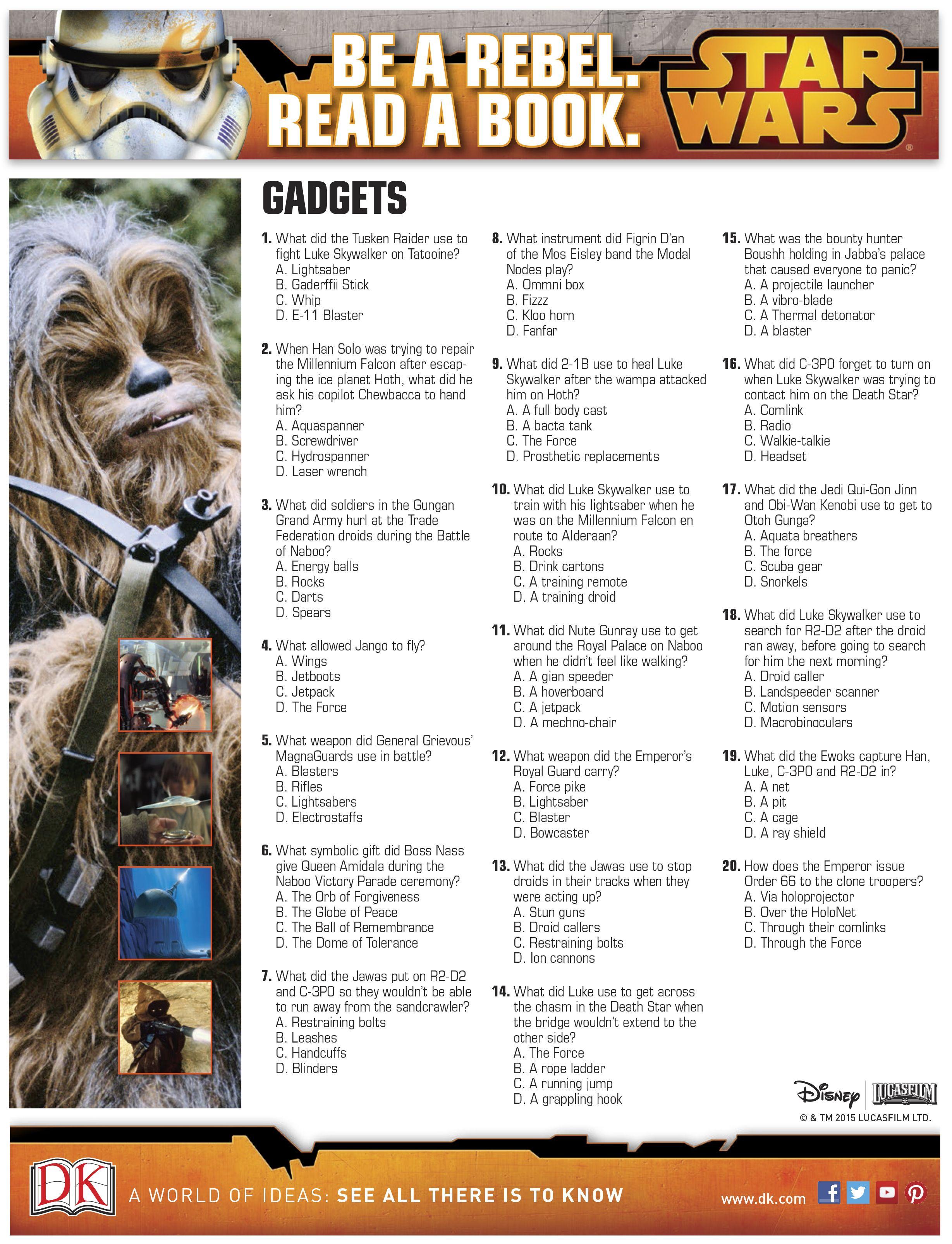 April Star Wars Trivia Questions Gadgets