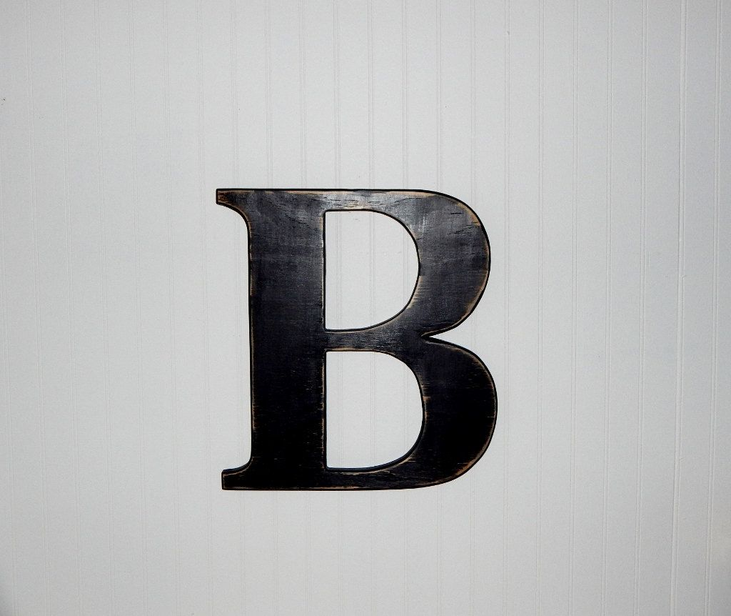 Large Wood Letter B Distressed 18 Inch Wooden Letter Ready To Ship