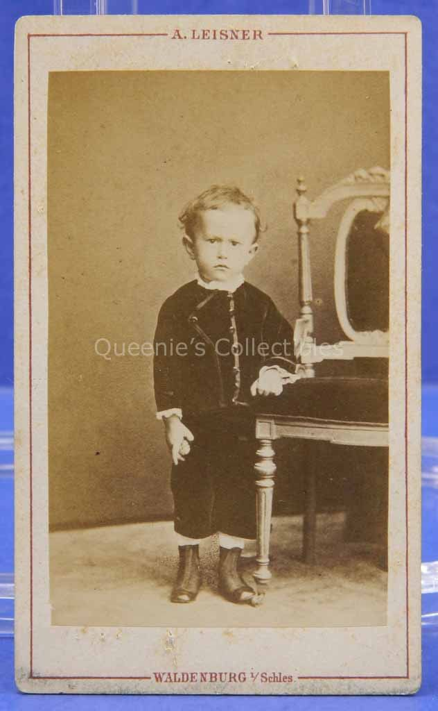 Grumpy Baby CDV Germany Velvet Clothes High Top Shoes Carte De Visite Vintage Photograph Young Child European Photography 1900s By QueeniesCollectibles On