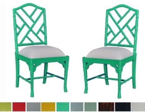 Chinese Chippendale CUSTOM Chair asian dining chairs and benches