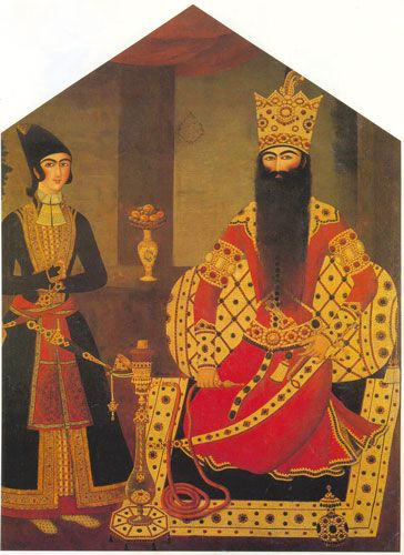 Qajar Portraits: Attributed to Mihr Ali', Portrait of Shah Fath Ali, private collection.