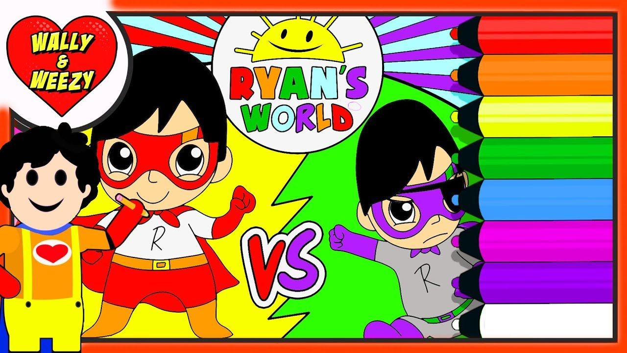 Superhero Blue Titan Vs Dark Titan Coloring Page Ryan S World Toys