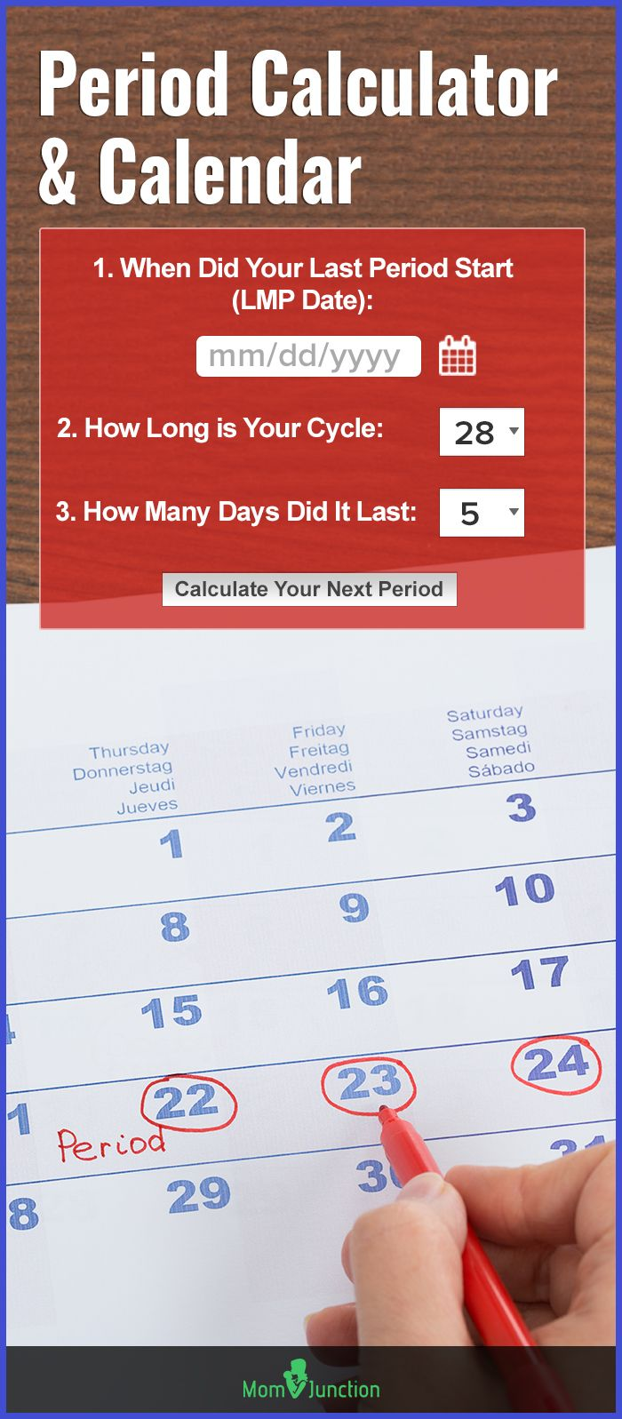 Reliable Menstrual Period Calculator & Calendar ...