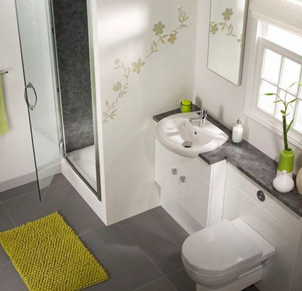 Modern Bathroom Accessories Design Compact Green Cozy Layout