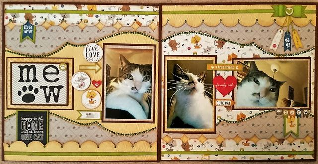 Kiwi Lane Cat Scrapbooking Layout Brought To You By The Letter J