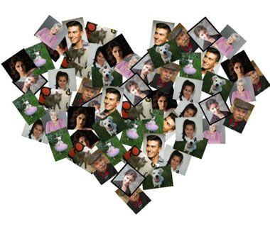 Collages en forma de Corazón ytyy Pinterest Formas de corazón