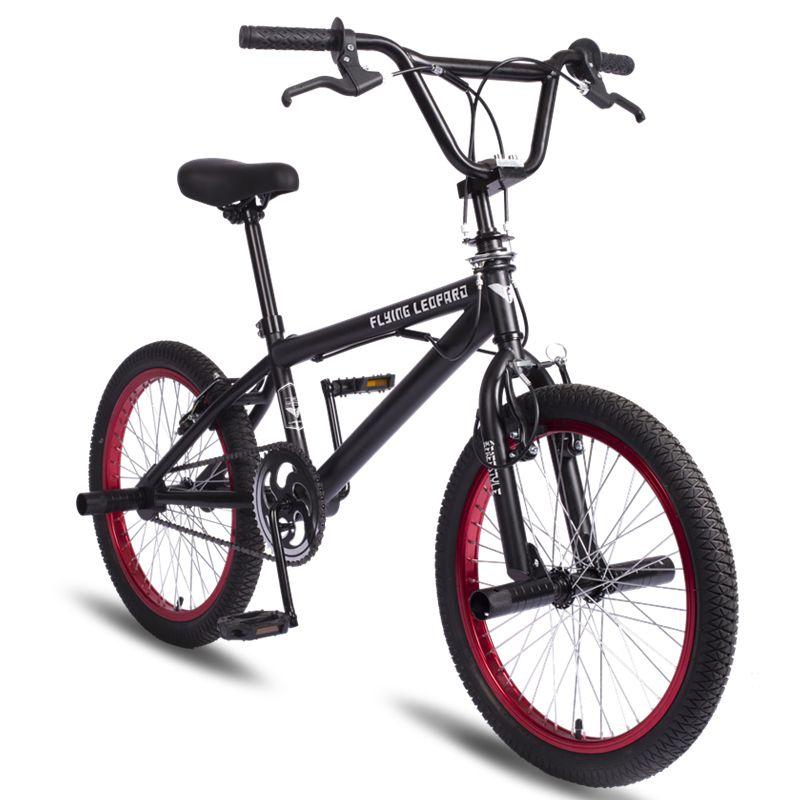 Bmx 20 Inch Bmx Bike Steel Frame Performance Bike Purple Red Tire Bike For Show Stunt Acrobatic Bike Rear Fancy Street Bicycle