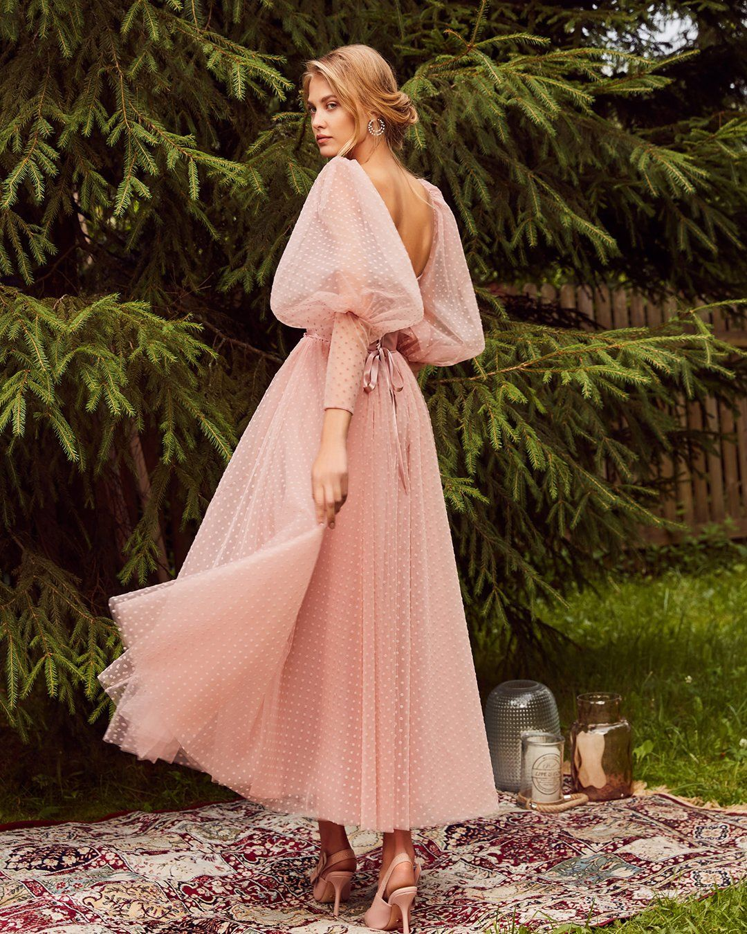 Wedding Guest Dresses For Every Seasons And Style Wedding Guest Dresses Tea Legnth Pink With Long Sl Cocktail Dress Wedding Gowns Of Elegance Elegant Dresses [ 1350 x 1080 Pixel ]