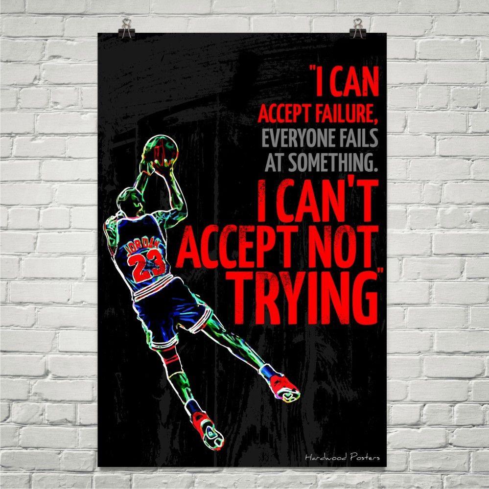 Michael Jordan Quote Poster 24 x 36