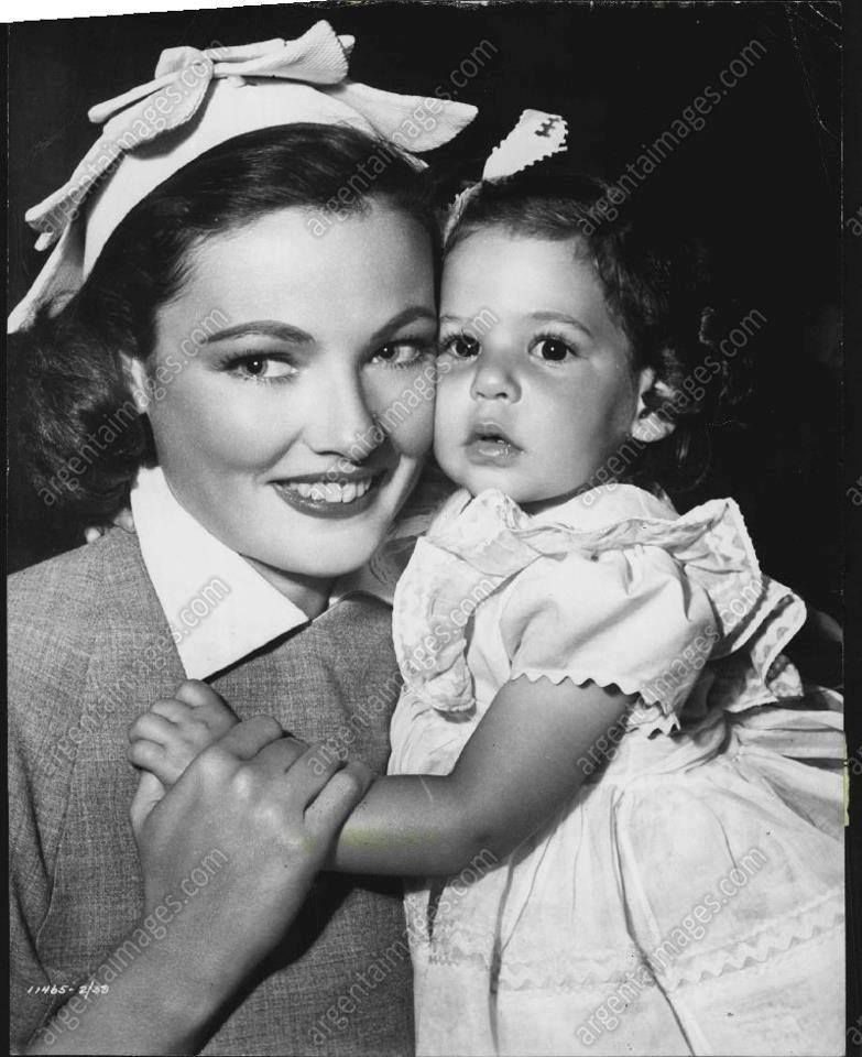 GET with daughter Christina Cassini Gene Tierney in