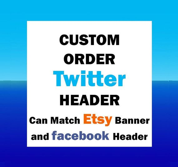 Custom Order for Twitter Header/cover can match Etsy by OwlArtShop
