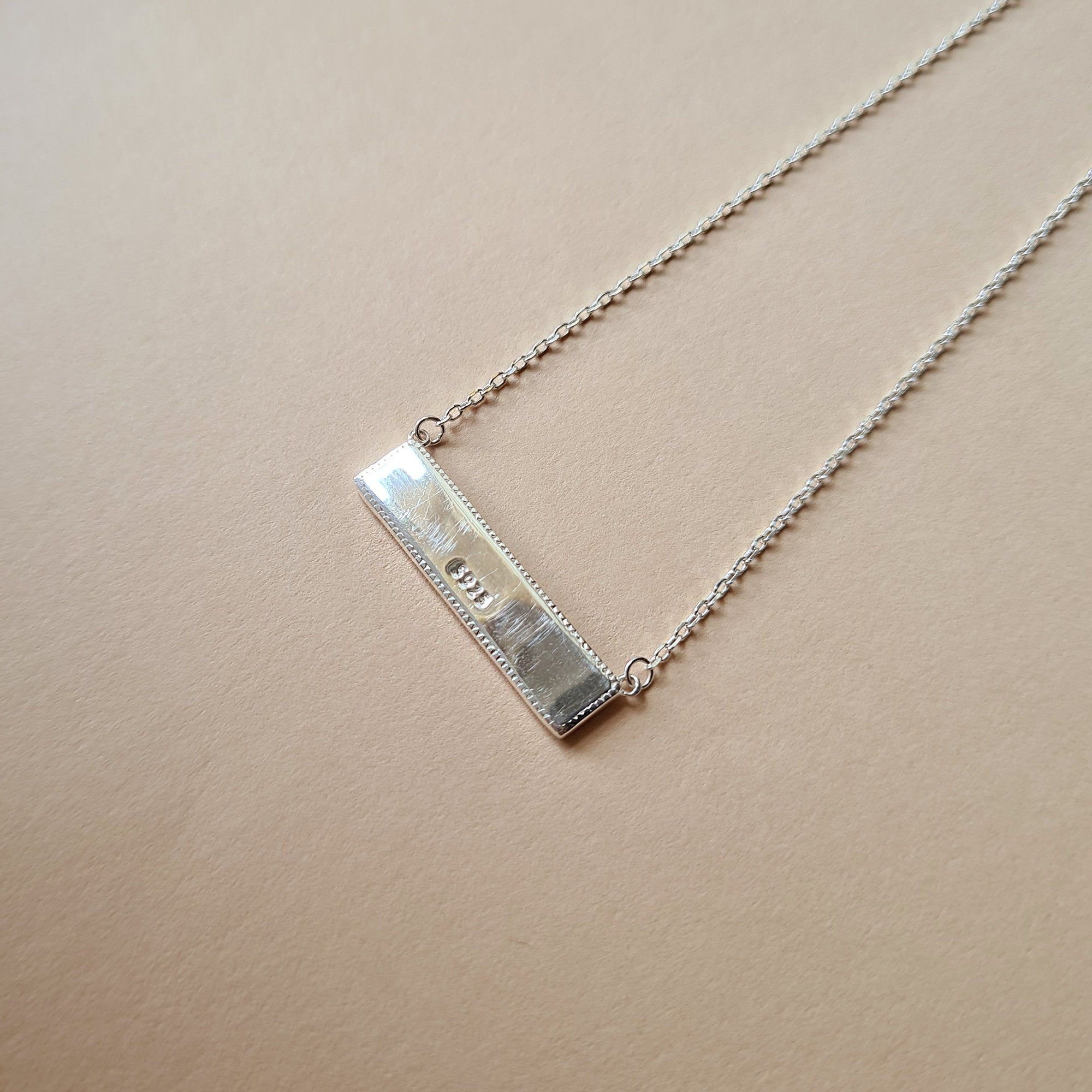 925 sterling silver classic reversible gold and silver bar necklace chocker