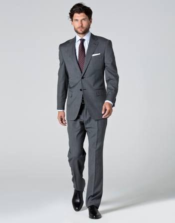4ae5fc17cc Catálogo de Cortefiel-Primavera Verano 2016 para hombre  Traje en tonos  grises combinado con corbata color vino
