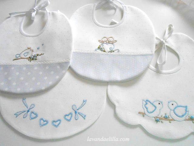 Lavanda e lillà: bavaglini baby baby applique baby sewing e