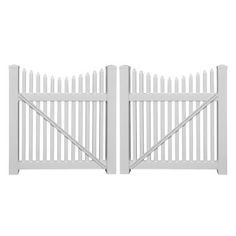 Weatherables Barrington 10 Ft W X 5 Ft H White Vinyl Picket Fence Double Gate Kit Includes Gate Hardware Dwpi 1 5nrsc 5x60 The Home Depot In 2020 Gate Kit Vinyl Picket Fence Double Gate