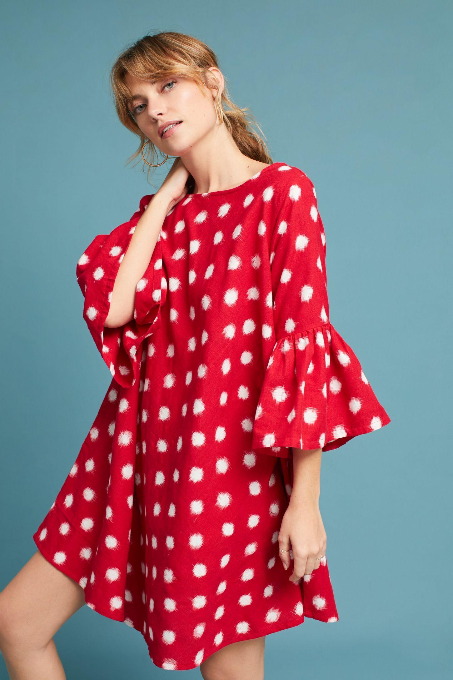 Spotted BellSleeve Swing Dress Swing dress, Dresses