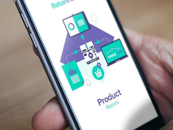 앱 디자인에 RetailVision // 응용 프로그램 및 그림을 곁들여