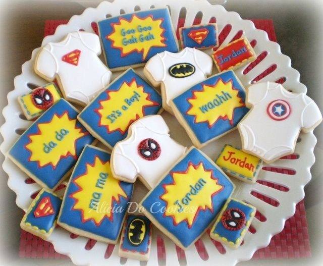 Superhero Baby Shower Themes ~ Marvel superheroes squad baby shower party ideas photo of