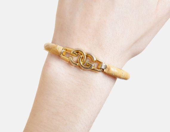 e0177e264 Vintage 70s GUCCI Snakeskin Bangle Bracelet Gold Plated | Fashion ...