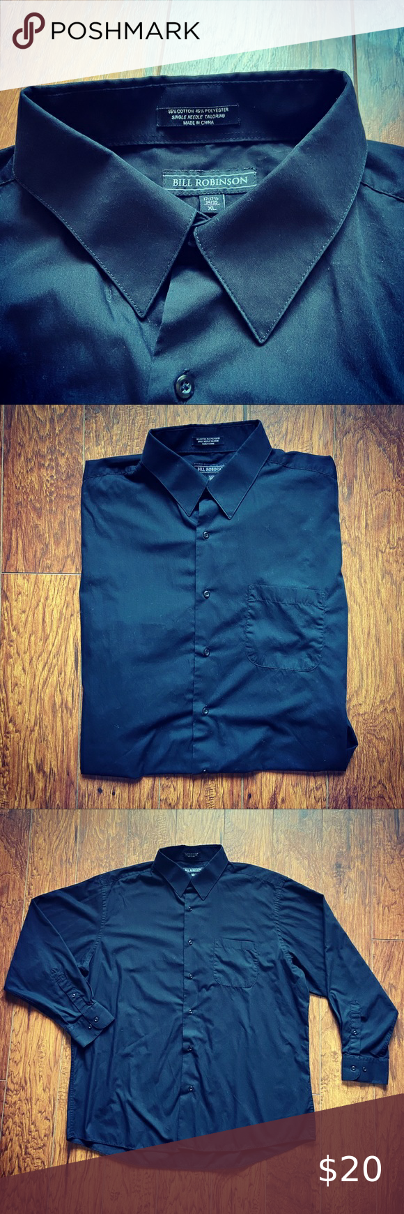 Bill Robinson Button Down Dress Shirt Black Dress Shirt Excellent Condition Size 17 17 1 2 34 35 Bill Robinson Sh Black Shirt Dress Mens Shirt Dress Shirts [ 1740 x 580 Pixel ]