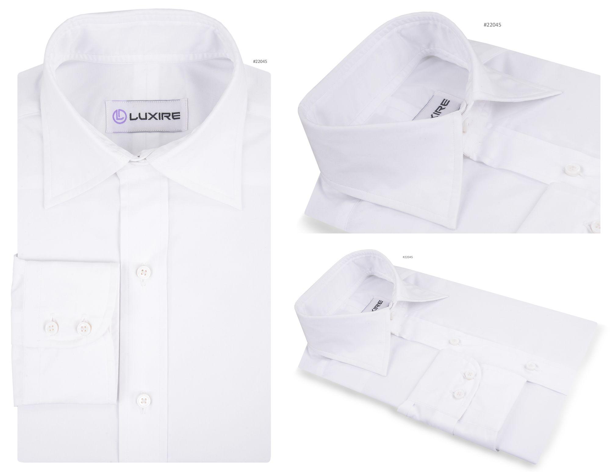 White Poplin Plain Weave 802 Formal Shirts Pinterest Formal