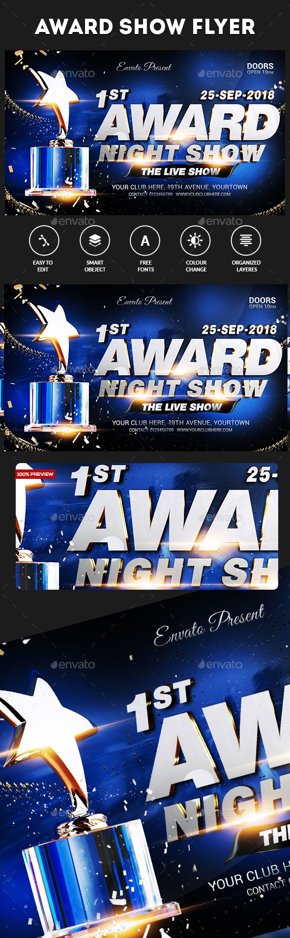 Award Show Flyer  Flyer Template Template And Event Banner