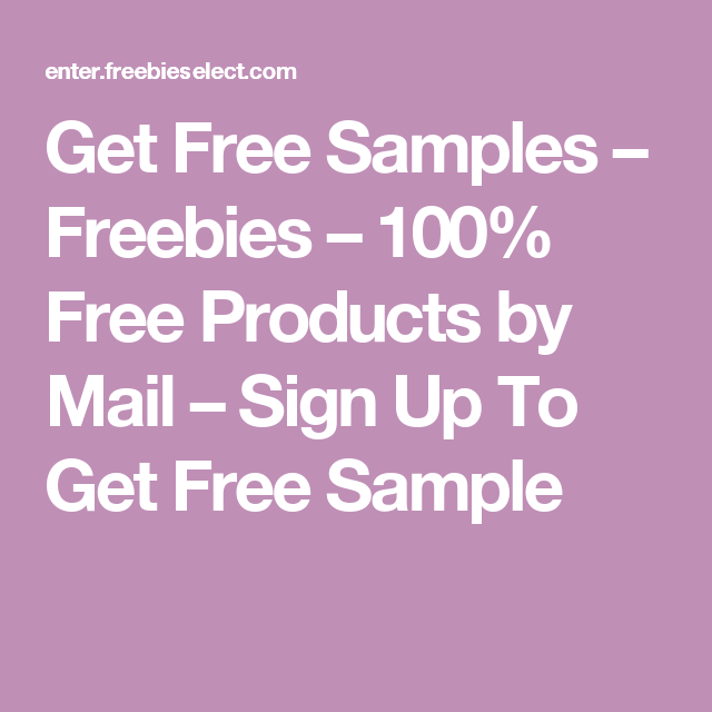 100 freebies by mail