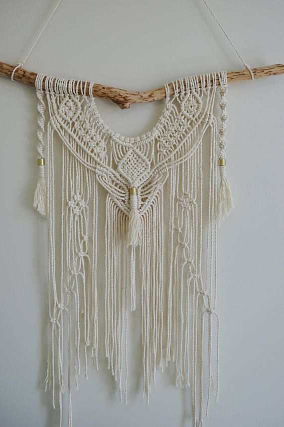 Macrame Wall Hanging Large Modern Pattern Knots Tassels