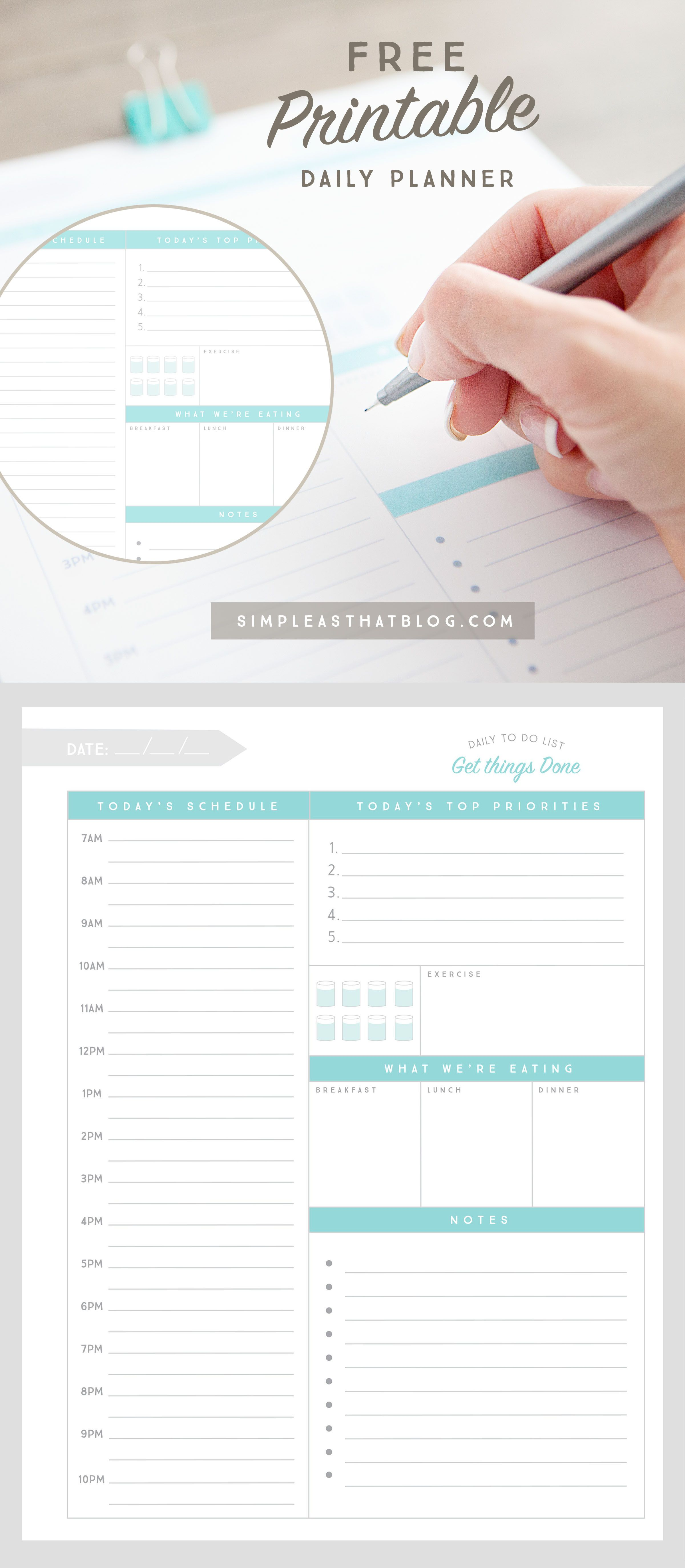 This Free Printable Daily Planner, Weekly To-Do List And Meal Planner Will  Help You Stay Organized And Productive Once And