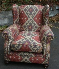 Kilm Fabric | Kilim Chair A 1920 S Arm Chair Upholstered In Linwood Kilim  Fabric £