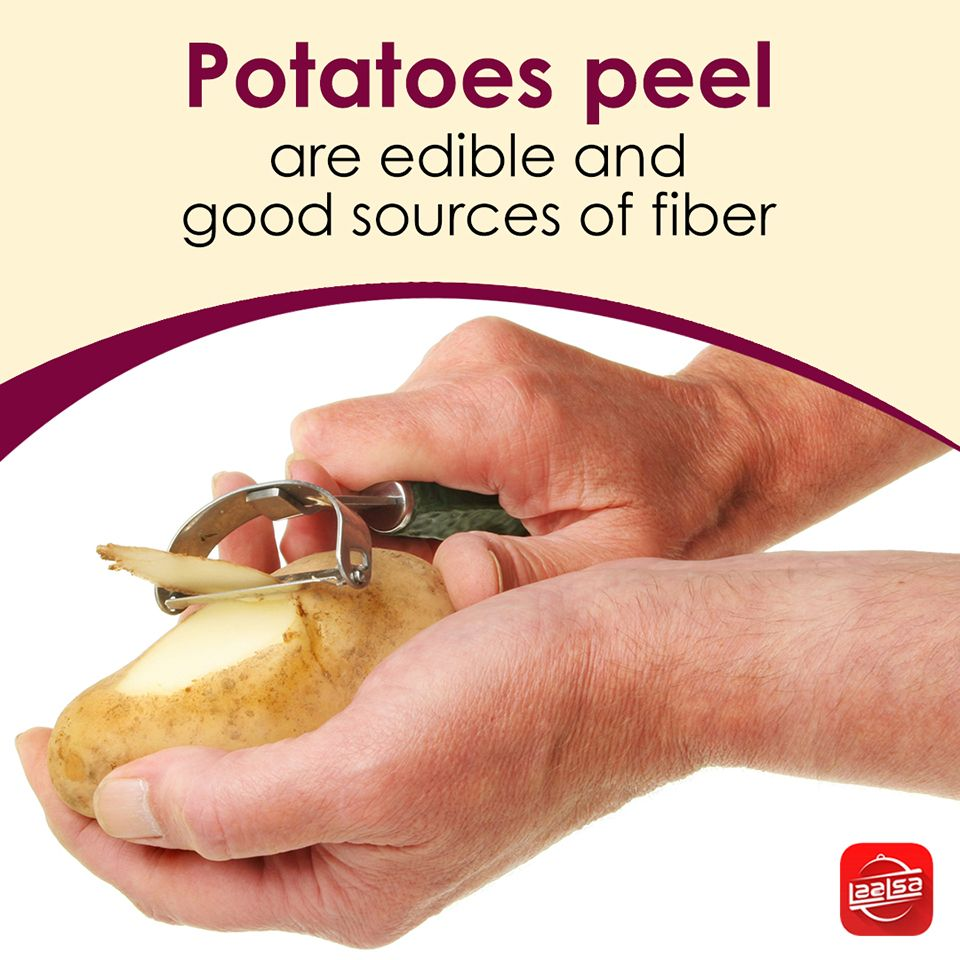 Avoid peeling the potatoes before cooking It holds very high