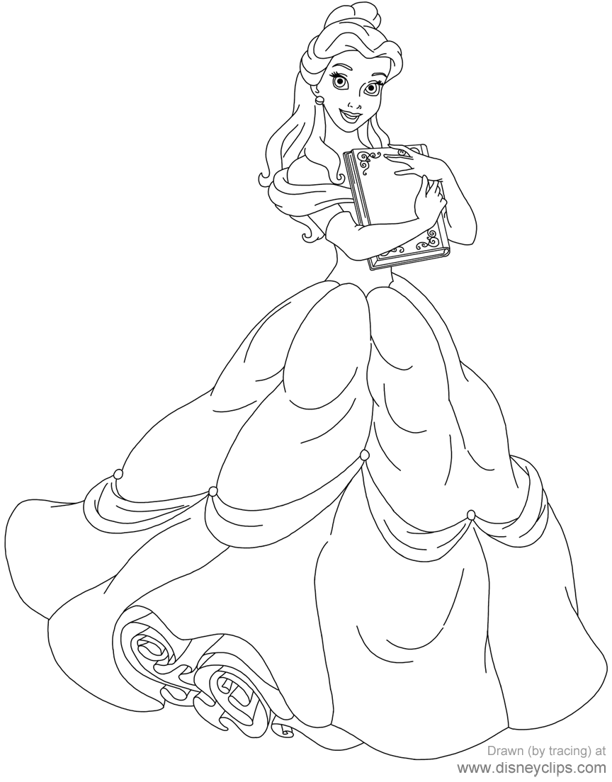 Belle Holding A Book Belle Beautyandthebeast Disney Coloring Sheets Disney Princess Coloring Pages Princess Coloring Pages