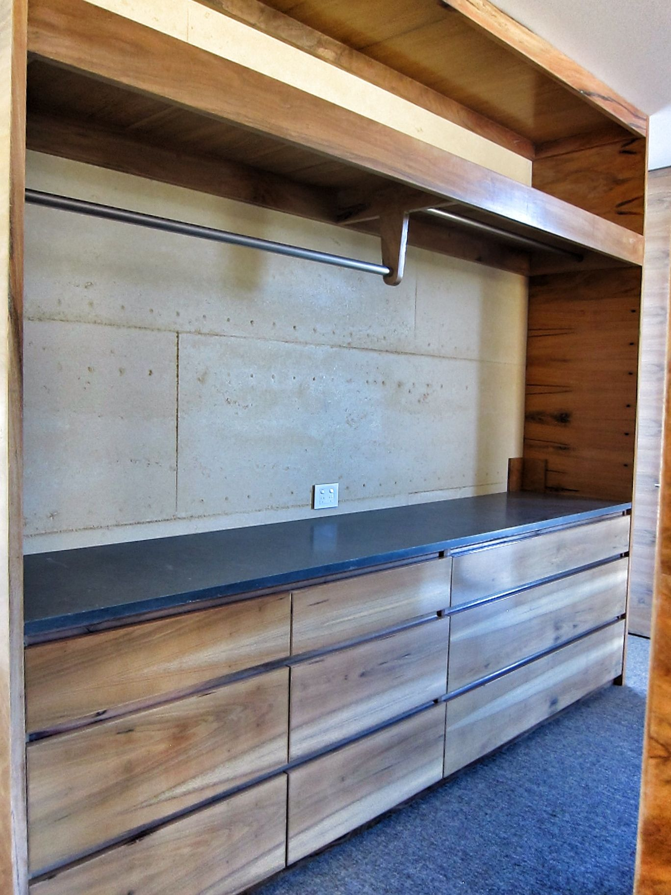 Walk Through Robe Hidden Behind A Divider In Master Bedroom Constructed By Sp Furniture