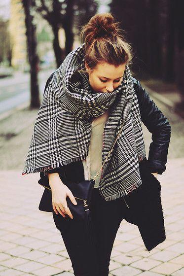 Zara Scarf Zara Scarf Fashion Big Scarf Outfit