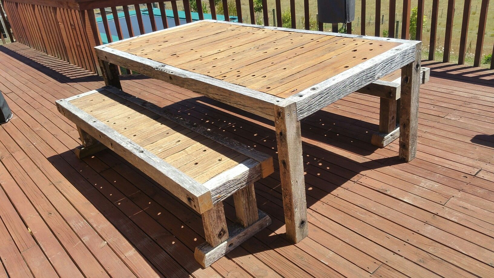 Crossarm rustic table farm tables lineman rustic table carpentry outdoor furniture