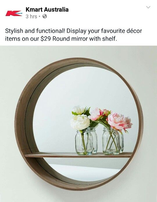 Kmart Wall Mirror Round Mirrors Decor Kmart Home