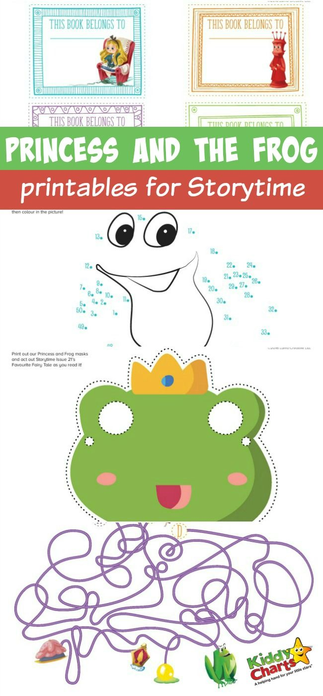 Princess and the frog printables for Storytime | Brownies ...