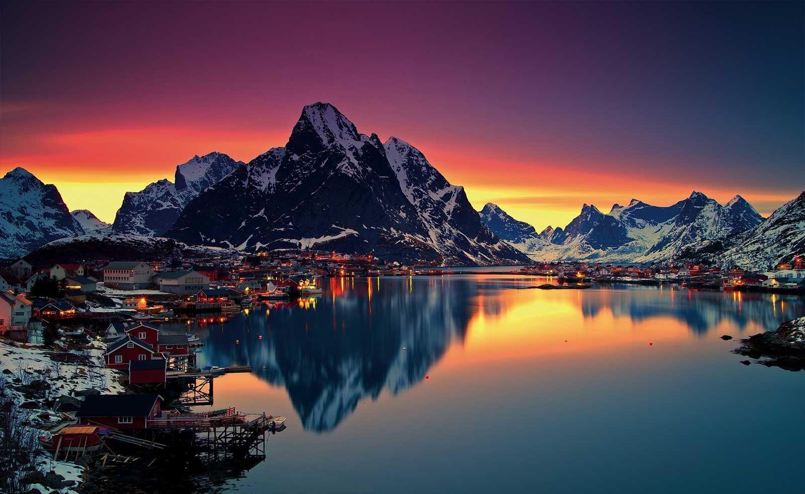 REINE, NORWAY Nature desktop wallpaper, Nature desktop