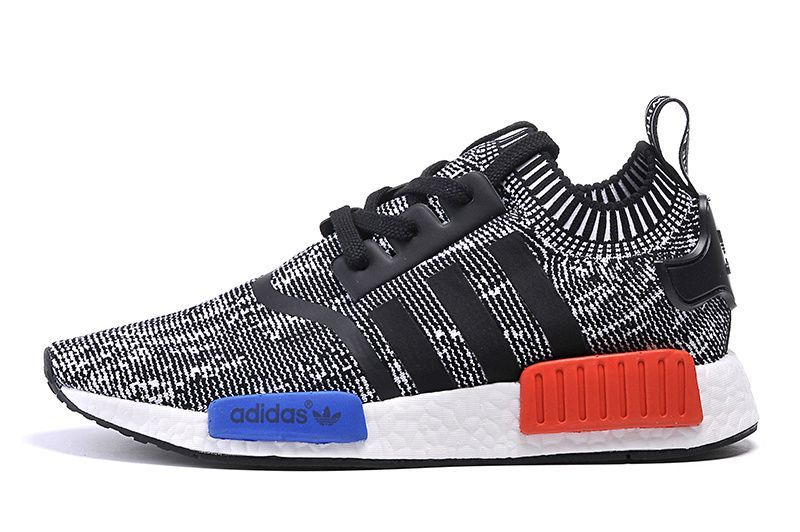 Adidas NMD shoes Grey black red and blue | Adidas nmd runner ...