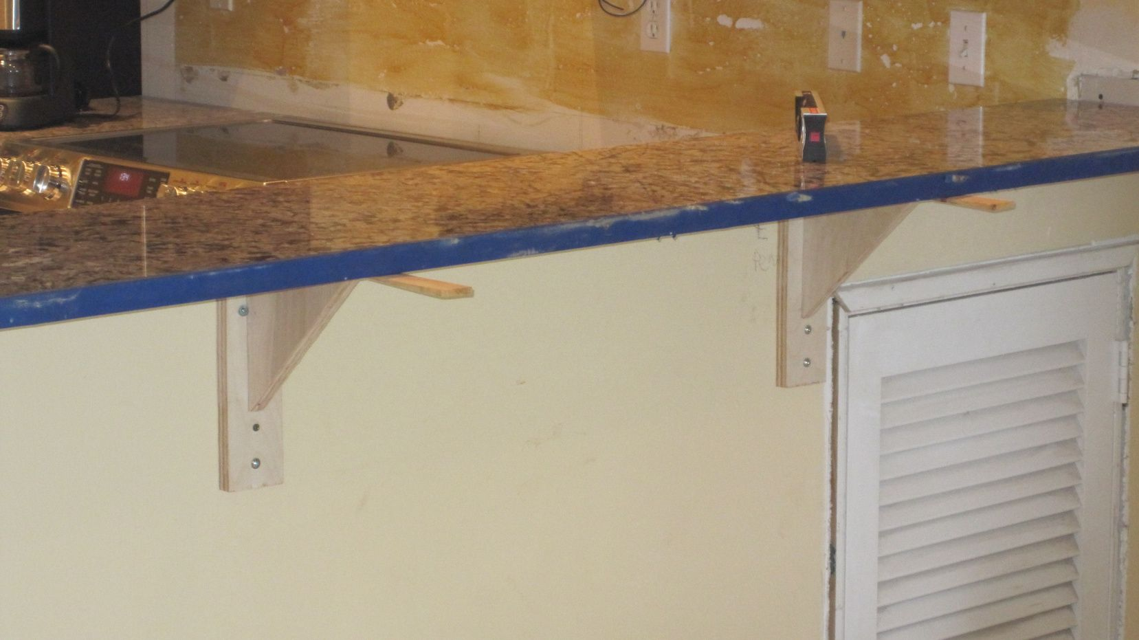 70 quartz countertop overhang limit kitchen island for Granite overhang limit