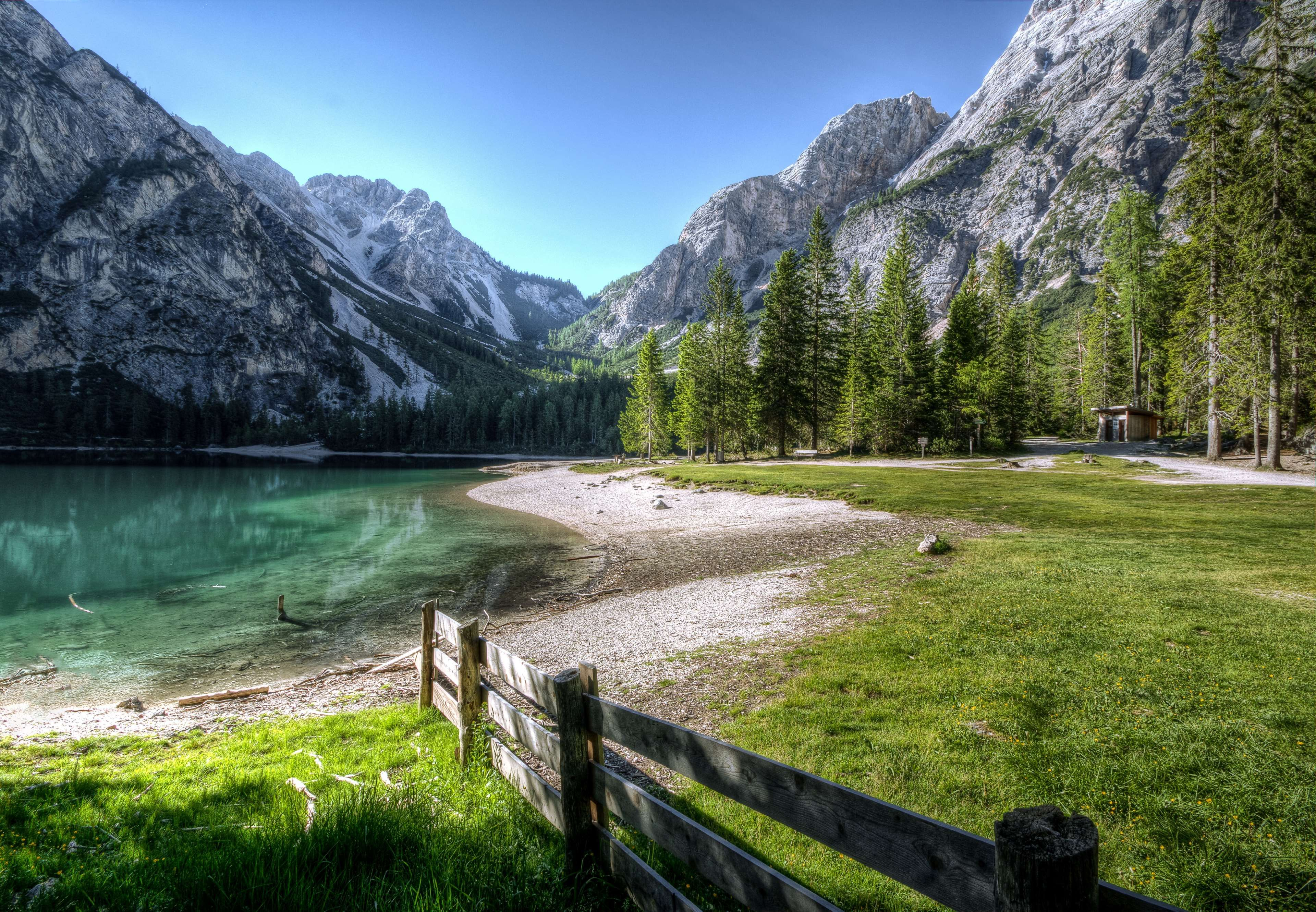 Conifer Fence Grass Hd Wallpaper Lake Landscape Mountain Nature Photography Outdoors Placid Rock Amazing Nature Photos Nature Photos Nature Pictures Wallpaper valley relief grass river sky