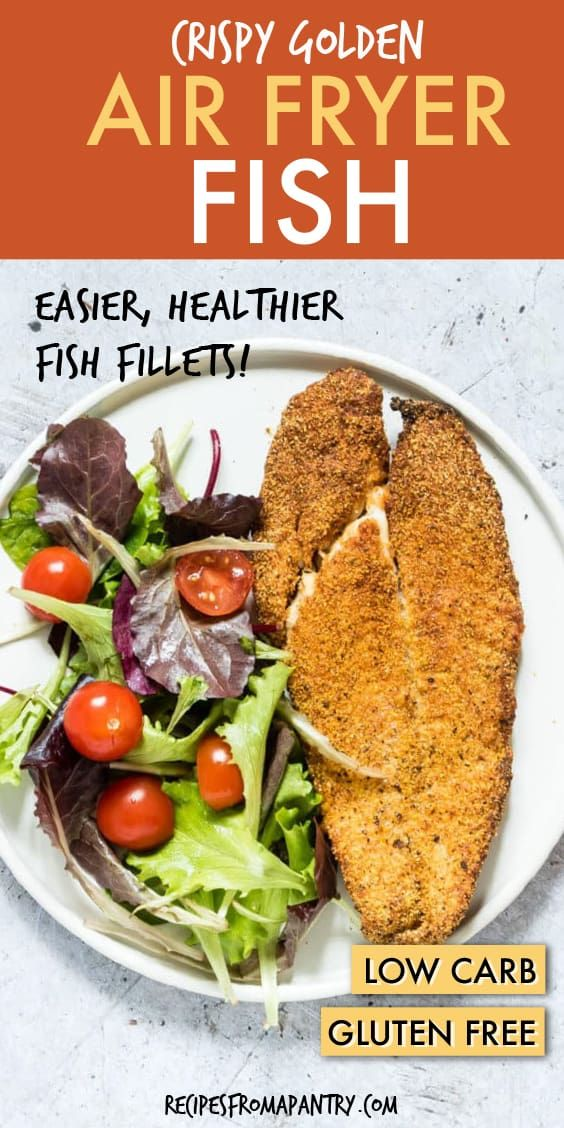 Crispy Golden Air Fryer Fish is perfectly crunchy on the