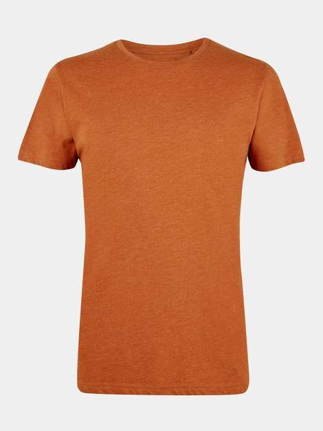 Men/'s Classic T-Shirt Plain Brown Short Sleeve XL