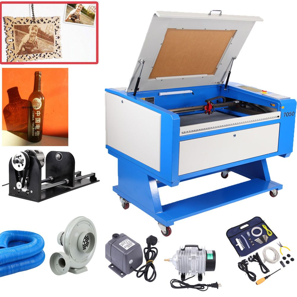 60W CO2 Laser Engraving &Cutting Machine USB Cutter