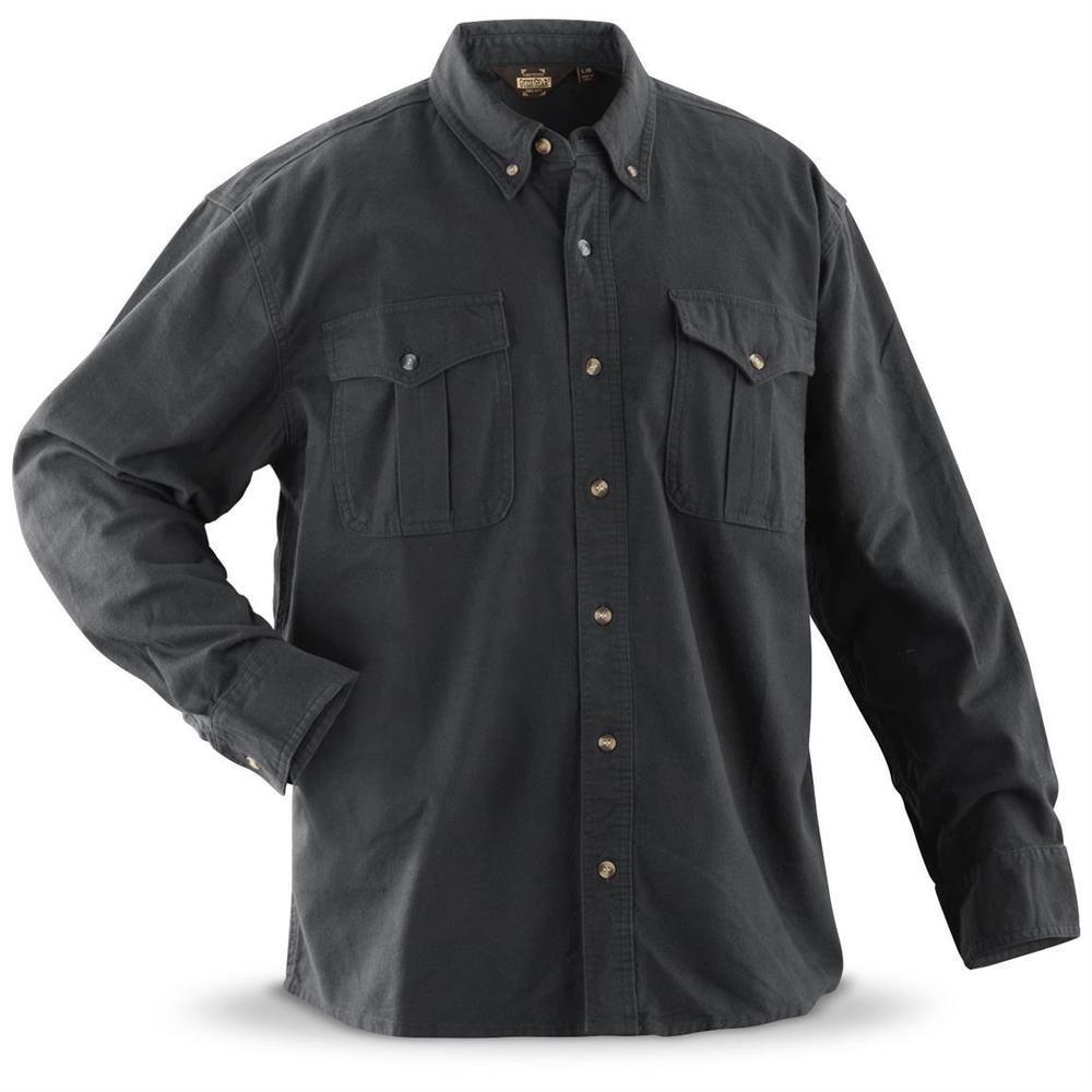dc78e79c5cbc1 Men s Cotton Chamois Shirt Size XL 2XL 3XL Grey NEW FREE SHIPPING  GG   ButtonFront