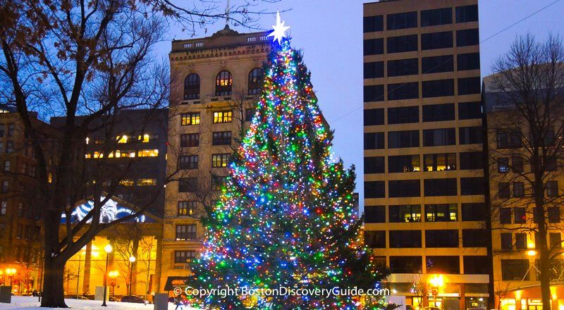 When Does Faniell Hall Light The Christmas Tree 2020] Christmas in Boston   Blink! holiday lights and Christmas tree in