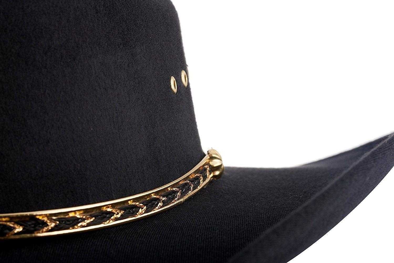 7c940245d5a74 Hats & Caps, Men's Hats & Caps, Cowboy Hats,Faux Felt Wide Brim Western  Cowboy Hat - Black - CF11GG65QU3 #caps #hats #style #mensoutfits #fashion  #shopping ...