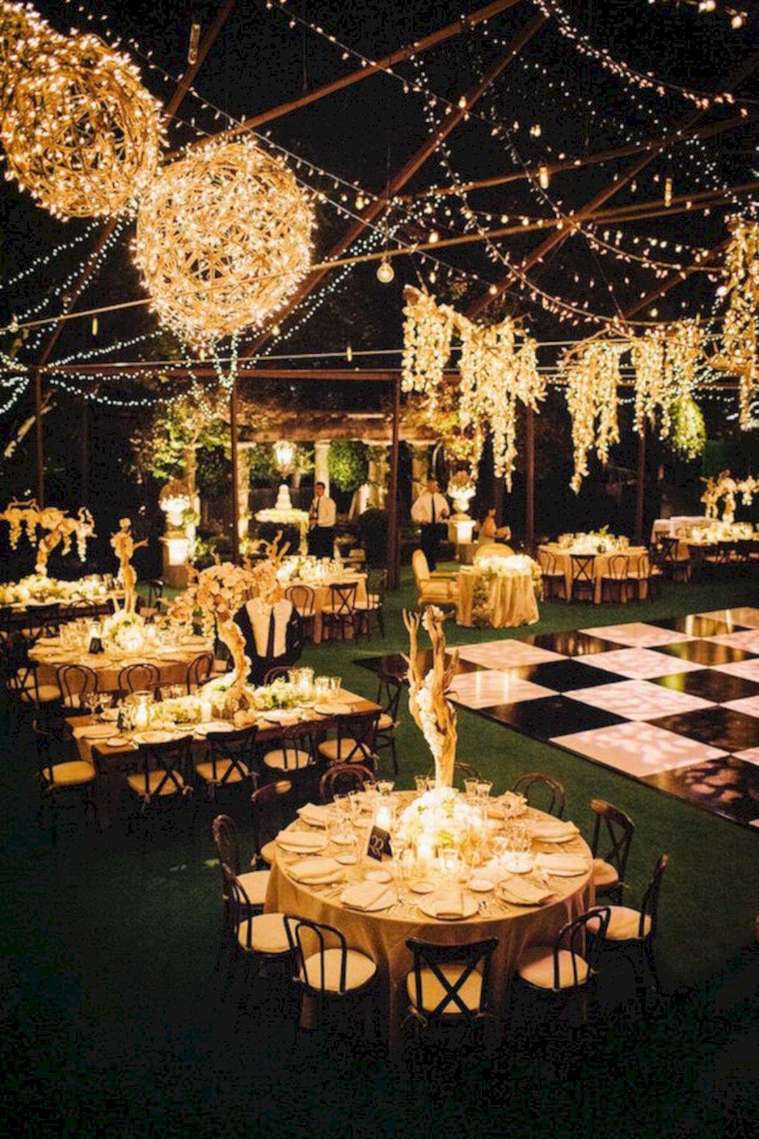 Unique wedding decoration ideas   Amazing Garden Wedding Lighting Design Ideas  Wedding lighting