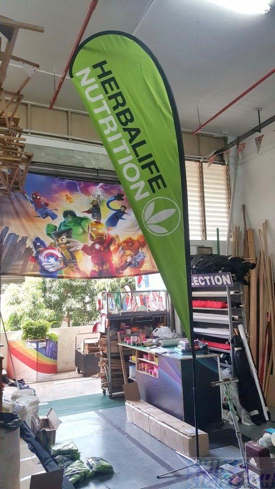 Large Size Teardrop Banner Herbalife Herbalife Teardrop Banner Outdoor Banner Stands